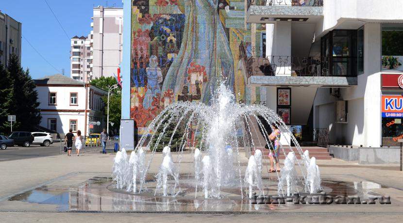 фонтан в Краснодаре