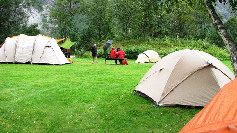 кемпинг с палаткой