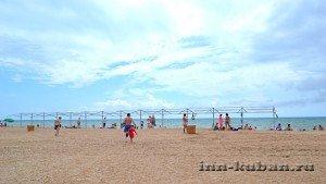 пляж в Благовещенке под Анапой