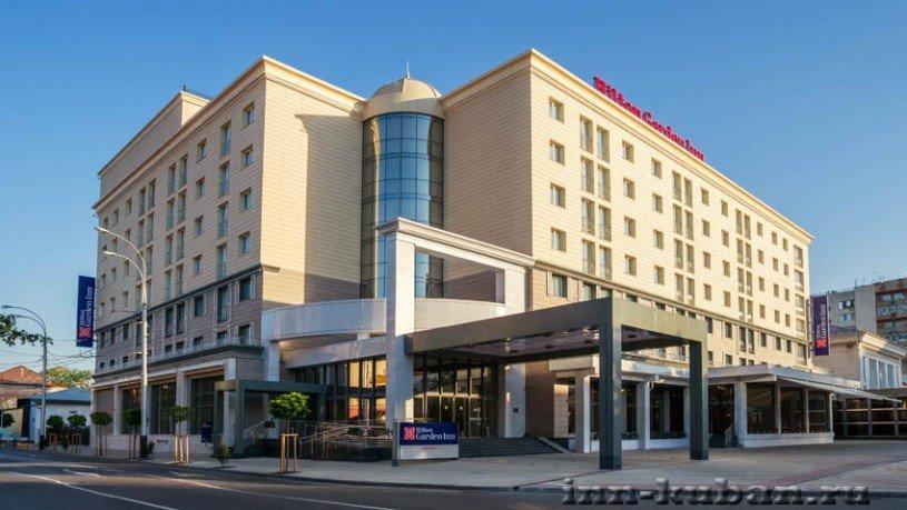 Фасад отеля Хилтон в Краснодаре